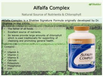Alfalfa Complex Shaklee Love Yourself And Shine Within