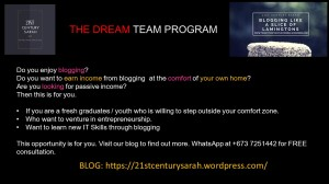 Blogging for Youth.Dream Team 01
